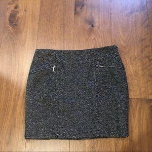 Michael Kors Tweed Double Zipper Skirt sz 8